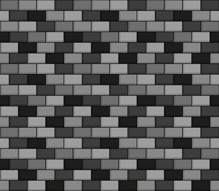 greyscale: Seamless vector greyscale pattern of brick wall Illustration