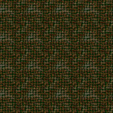 paving stones: Seamless pattern of unusual illustration of irregular stones on dark green background