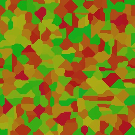muted: Abstract seamless pattern in muted colors of yellow, green, orange and red Stock Photo