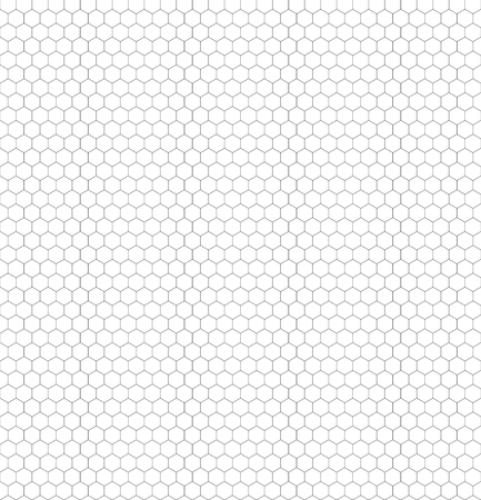 Seamless black and white hexagon honeycomb pattern net for your Coloration