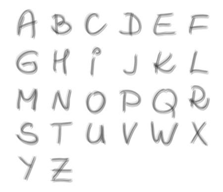 maldestro: Scritto a mano alphabeth maiuscolo - fatta a pennello trasparente, rozzo, goffo e inusuale Vettoriali