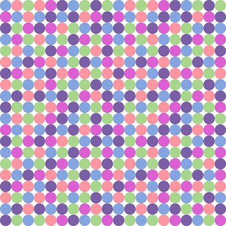 saturated: Seamless polka dot pattern in saturated pastel colors