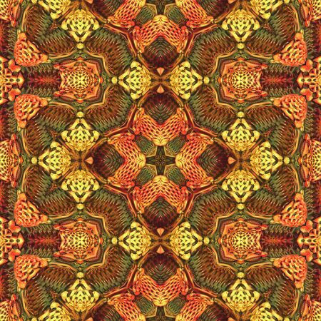 Seamless tile fabric, wrapper pattern in vivid warm colors Stock Photo