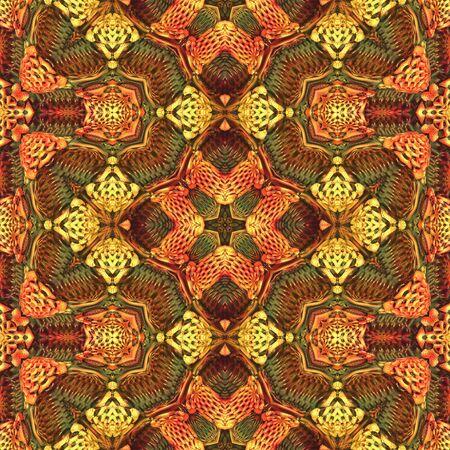colores calidos: tela de mosaico sin fisuras, patrón de envoltura en colores cálidos vivos
