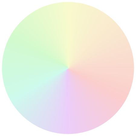 muted: Isolated vector circular gradient in muted rainbow colors