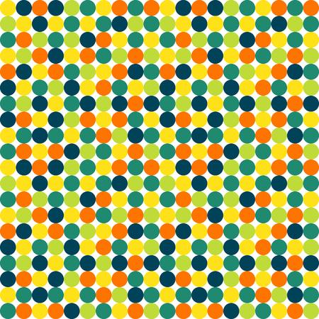 vivid colors: Seamless polka dot vector pattern in vivid colors
