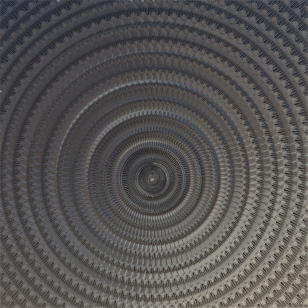 perforation: Gray background - 3d fractal with circular perforation