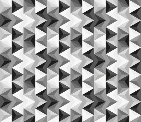 greyscale: Seamless abstract pattern made of triangles in greyscale