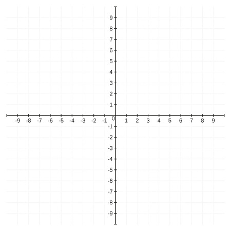 coordinate: Cartesian coordinate system template, blank, no data included, isolated on white Illustration