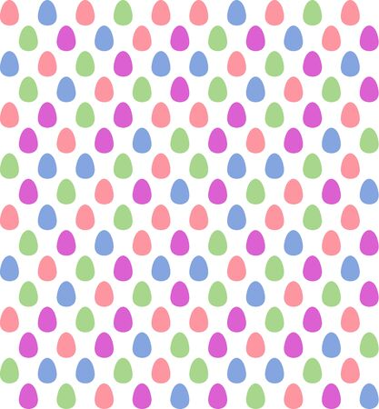 saturated: Seamless Easter egg patern in saturated pastel colors on white background