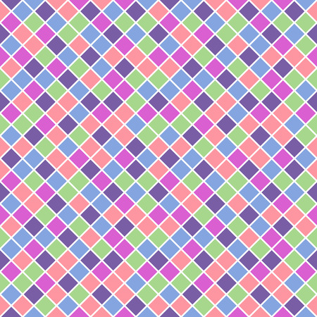 saturated: Seamless pattern made of saturated pastel color rhombuses with white lining