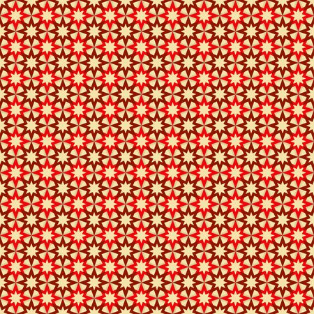 tan: Seamless pattern with red and dark red stars on tan (beige) background Illustration