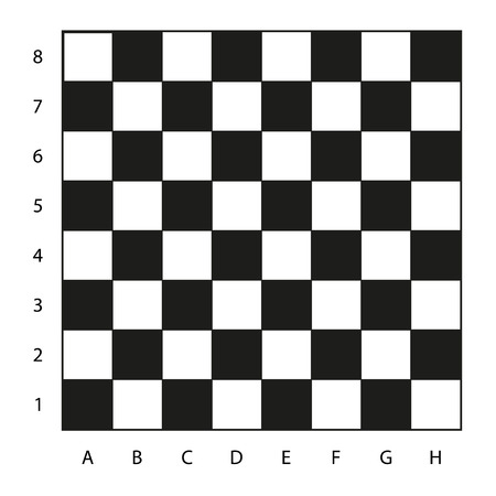 Chessboard with coordinates illustration, isolated on white, ready for your play Иллюстрация