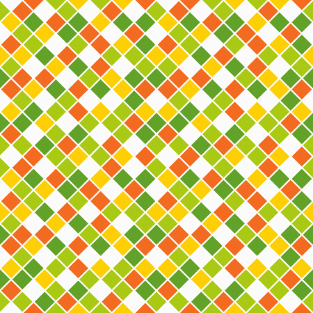 lining: Seamless pattern made of vivid spring color rhombuses with white lining Illustration