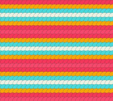 vivid colors: Seamless colorful pattern made of round ornaments making row in vivid colors Illustration