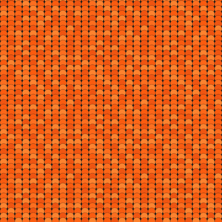 shadowed: Seamless pattern made of orange shadowed overlay circles with black outline Illustration