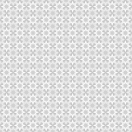 greyscale: Seamless pattern with grey and white stars on dark grey background, greyscale, monochrome, monochromatic, endless, abstract, geometry, texture