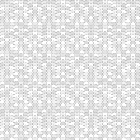 greyscale: Seamless pattern made of greyscale overlay circles with decent black outline