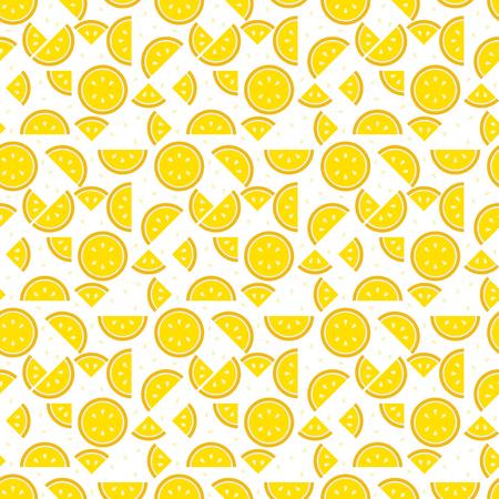과일 패턴 끝없는 질감처럼 보이는 레몬 패턴 그림. 일러스트