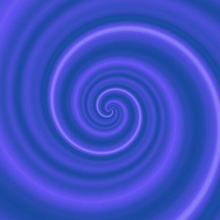 Illustration of dark blue swirl, vortex, whirlpool with light purple line, 3D illusion Stock Photo