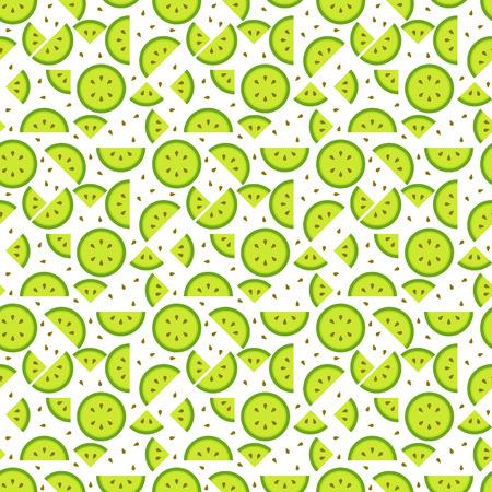 원활한 키 위 (키 위, 중국 구스베리) 패턴 배경, 맛있는 찾고 과일 씨앗