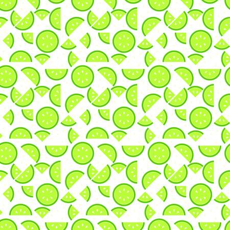 원활한 라임 패턴 배경, 맛있는 찾고 과일 끝없는 질감 일러스트