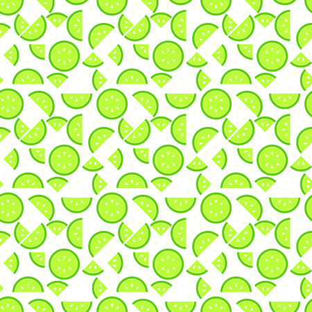 Seamless lime pattern background, tasty looking fruit endless texture Illustration