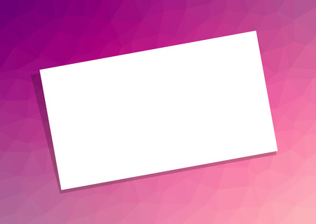 Business Card Or Visiting Template With Shadow On Pink