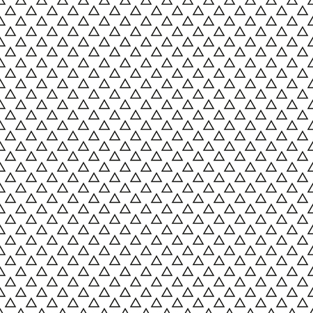 Seamless simple triangle black and white pattern, regular geoemetry equilateral triangles