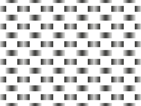 Seamless pattern with stripped lines in different thickness, ean - bar code imitation, white background, abstract geometry endless texture
