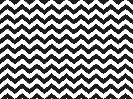 Regular black and white zigzag chevron pattern, seamless zig zag line texture abstract geometry background  イラスト・ベクター素材