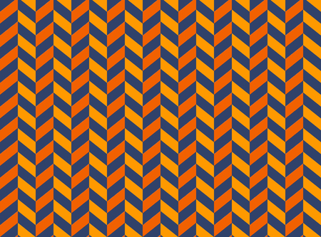 Seamless pattern - slant (oblique) opposite dark and light orange lines on black background, imitation of corners