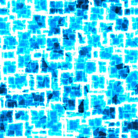 Seamless pattern in shades of blue with neon white shining lines, abstract background, electric field 写真素材