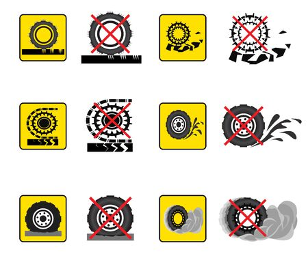 associated: Infographics associated with transport and road surface. Vector icons. Illustration