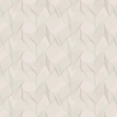 unobtrusive: Vector seamless pattern. Unobtrusive abstract texture of wavy lines. Illustration