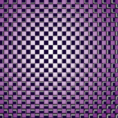 physiological: Background consisting of squares correct form with the effect of optical illusion. Vector illustration.