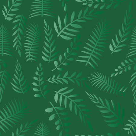 grass weave: Vector seamless pattern. Natural stylish texture. Plant branches on a green background.