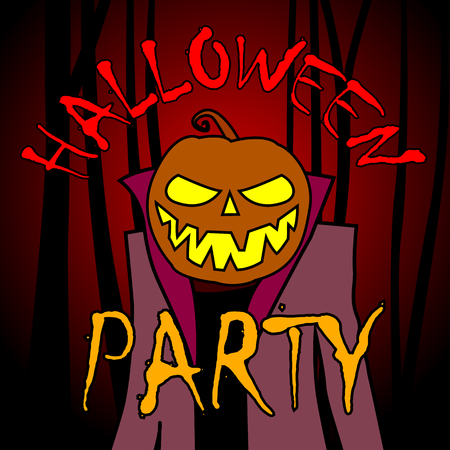 Halloween party greeting card.