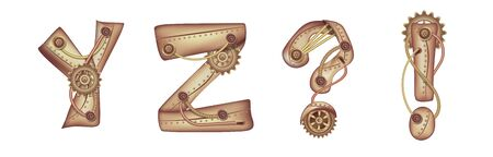 Symbols of the Latin alphabet . The letters of the English language.
