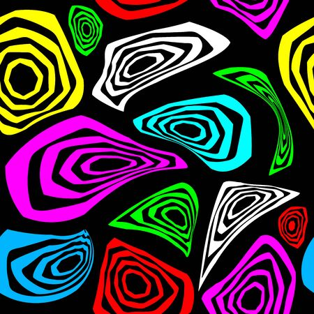 Memphis seamless pattern in the style of 80s. Ilustração