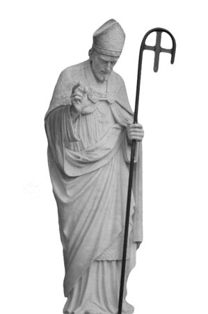 A marble statue of the Pope Stock Photo