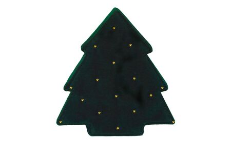A felt covered Christmas Tree gift box Stock Photo