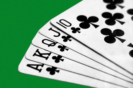 A 5 card draw Royal Flush