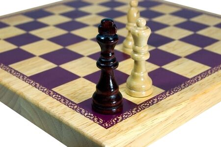 A chessboard shows its game over for the black king