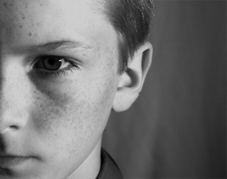 Young Teen in B and W Stock Photo - 3661072