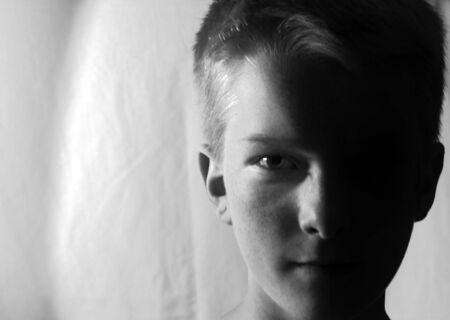 Teenage Boy profile shot