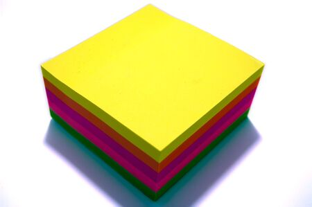 a pad of colorful postit notes Stock Photo