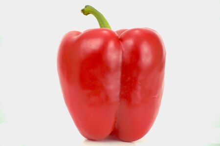 A red pepper isolated on white