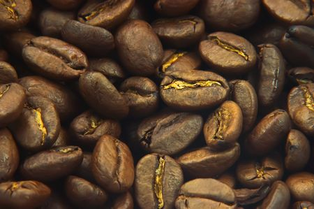 Macro of coffee beans