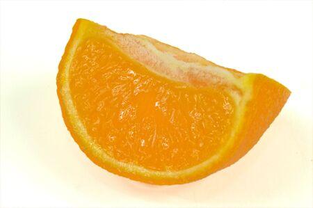 Orange slice isloated on a white background
